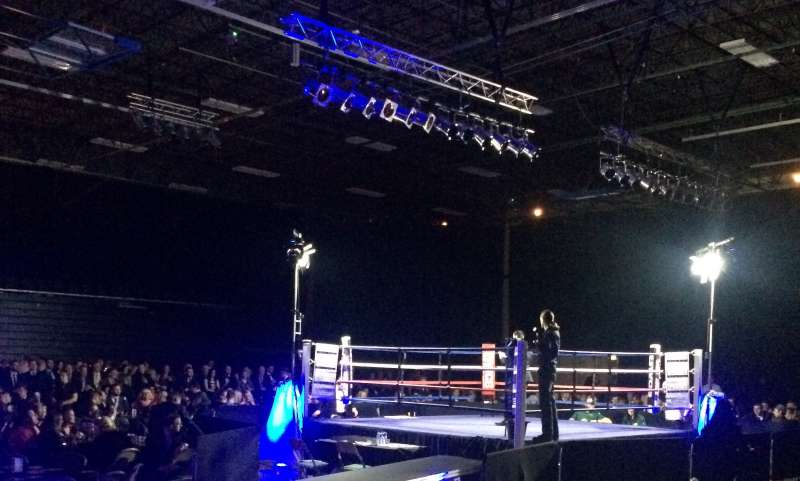 Main Hall set for Boxing Event