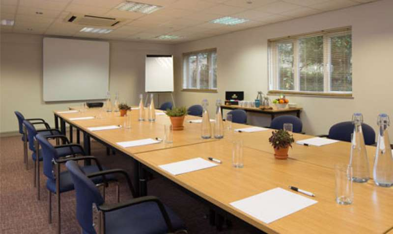 The Hatfield Room set up for a meeting
