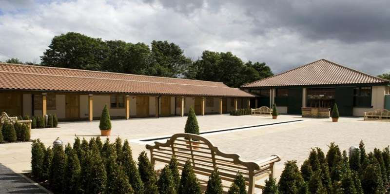 The Ridings Barn courtyard