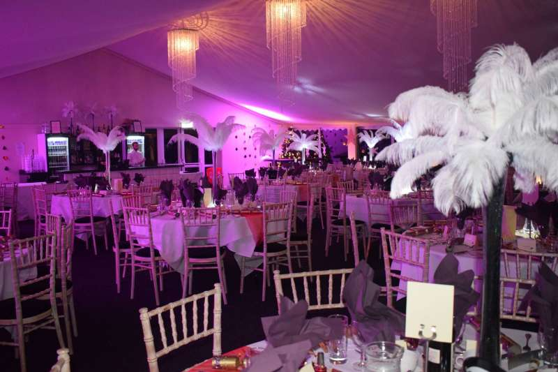 The Marquee is ideal for weddings, parties and team building